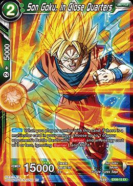 Son Goku, in Close Quarters