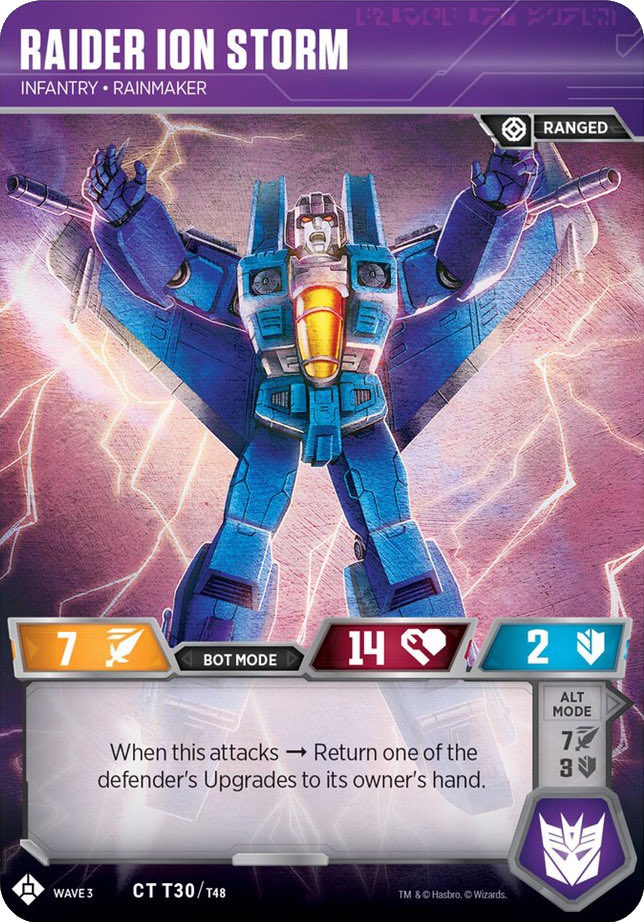Transformers TCG Wave 3 Raider Ion Storm Infantry Rainmaker CT T30