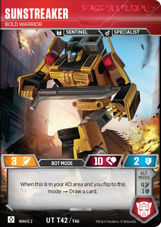 Sunstreaker, Bold Warrior