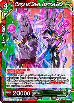 Champa and Beerus, Capricious Gods