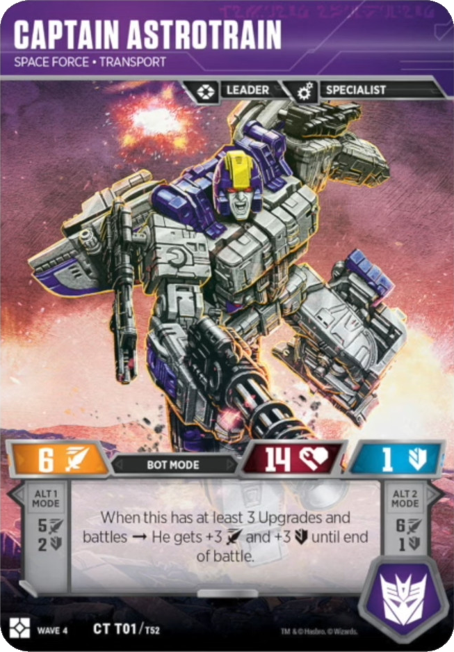 Captain Astrotrain, Space Force Transport