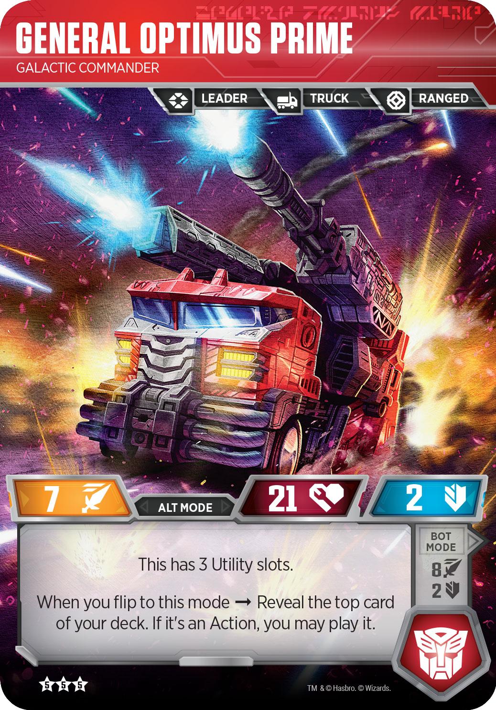 General Optimus Prime, Galactic Commander