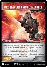 Sergeant Six Gun, Artillery Solider / MTX-52A Guided Missile Launcher