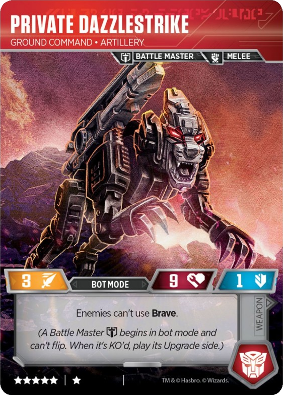 Private Dazzlestrike, Ground Command Artillery / Shadowsteel Iceblade