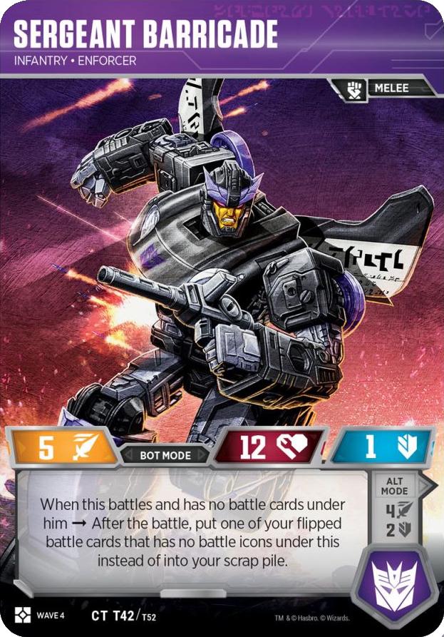 Sergeant Barricade, Infantry Enforcer