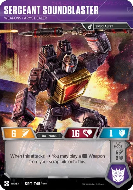 Sergeant Soundblaster, Weapons Arms Dealer