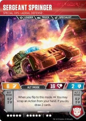 Sergeant Springer, Special Ops Aerial Defense