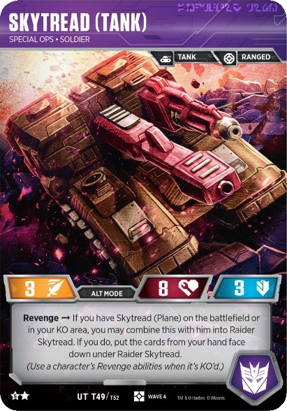 Skytread (Tank), Special Ops Soldier