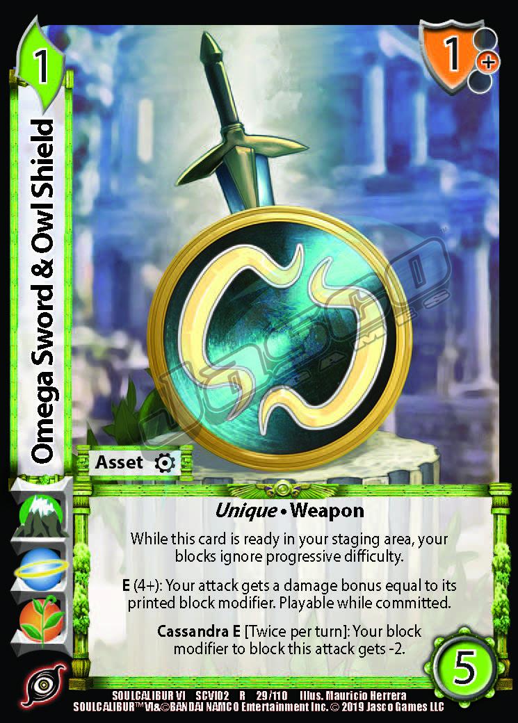 Omega Sword & Owl Shield