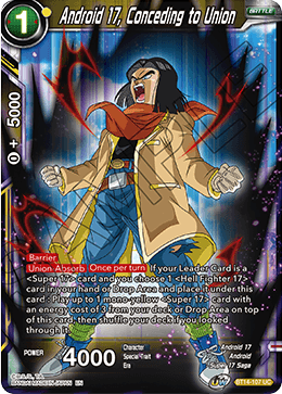 Android 17, Conceding to Union